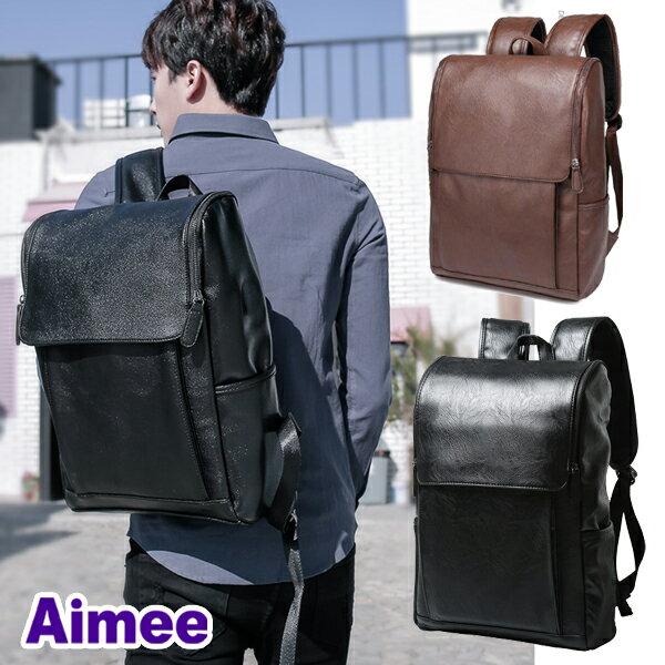 【預購】【Aimee】專業電腦包46公分A4資料14吋筆電專用‧首爾大學生推薦街頭復古坦克後背包〈皮革版〉托特包肩背包側背包大包