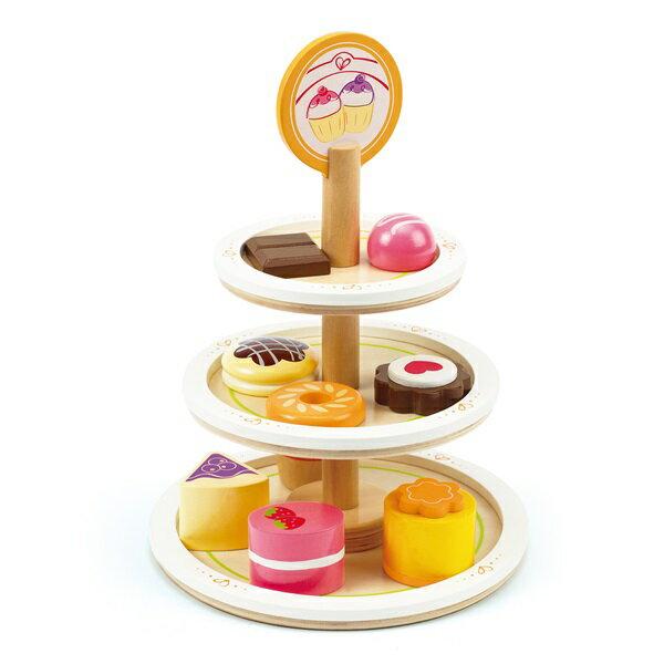 ★衛立兒生活館★德國【Hape愛傑卡】下午茶系列 甜心蛋糕塔