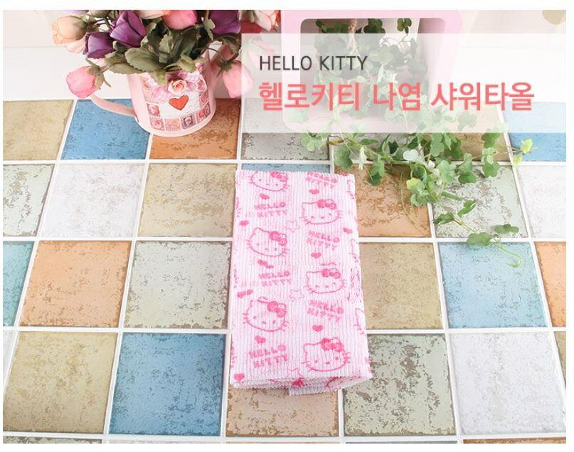 X射線【C065920】Hello Kitty 澡巾,澡巾/去角質巾/美容巾/沐浴巾/洗澡巾