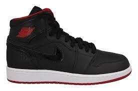 NIKE AIR JORDAN 1 RETRO HIGH BG 黑 紅 大童鞋 女鞋 US 4.5~6.5 705300-021 J倉