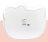 X射線【C169302】Hello Kitty 頭型托盤M,小物收納架 / 飾品盤 / 點心盤 / 零錢盤 / 水果盤 / 茶盤 1