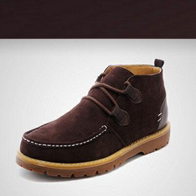 ~雪靴 男短筒靴~百搭休閒溫暖 男鞋子3色72af5~ ~~米蘭 ~