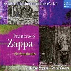 【小閔的古典音樂世界】SONY 瓦尼.莫瑞多(Vanni Moretto)/法蘭西斯.札帕:六首交響曲[Francesco Zappa :Six Symphonies]【2CDs】