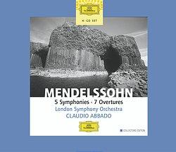DG 阿巴多(Claudio Abbado)/孟德爾頌:交響曲全集、序曲集[Mendelssohn:5 Symphonies,7 Overtures]【4CDs】