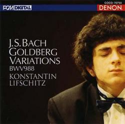 【小閔的古典音樂世界】DENON 列夫席茲(Konstantin Lifschitz)/巴哈: 郭德堡變奏曲[Bach: Goldberg Variations]【1CD】