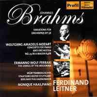Profil 萊特納(Ferdinand Leitner)/布拉姆斯:海頓主題變奏曲、莫札特:鋼琴協奏曲第23號[Brahms: Variations on a theme by Haydn、Mozart:Piano Concerto No. 23]【1CD】