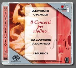 PentaTone阿卡多(SalvatoreAccardo)&義大利音樂家合奏團(IMusici)韋瓦第:八首小提琴協奏曲,作品7[Vivaldi:8Concertiperviolino]【1SACD】