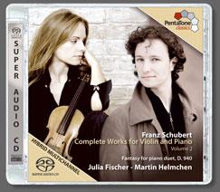 PentaTone 茱麗雅費雪(Julia Fischer)/舒伯特:小提琴與鋼琴作品 II[Schubert:Complete Works for Violin and Piano, Volume ..