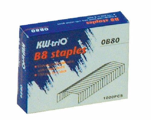 KW -trio B8 訂書針 #0B80 -1000PCS / 盒