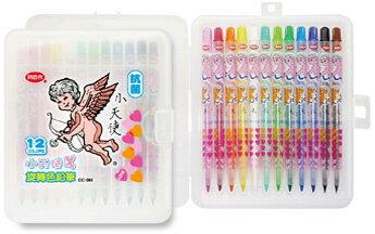 利百代 CC~085  小天使抗菌旋轉色鉛筆~12色入  盒