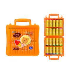 奶油獅 3207163A 48色大支粉臘筆 BLOP~48  外殼顏色 出貨    盒