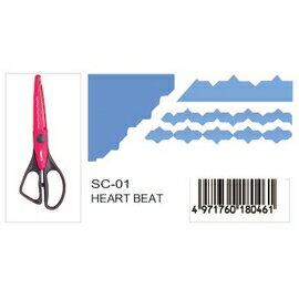 CARL   SC-01  (HEART BEAT)造型剪刀  /  支