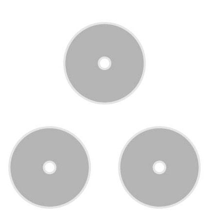 雷鳥  LT-3305 教學磁鐵(直徑14X厚度5mm,中心孔2mm)-3個入 / 包
