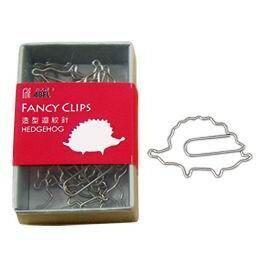 力大牌 ABEL 00144 造型迴紋針-刺蝟 15支入 / 盒