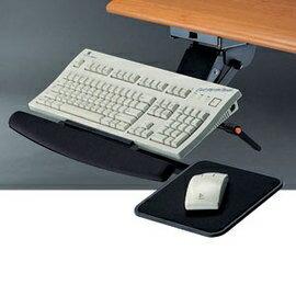【潔保】多功能鋼製鍵盤架系列-KF-33BM 鋼珠式+滑鼠板