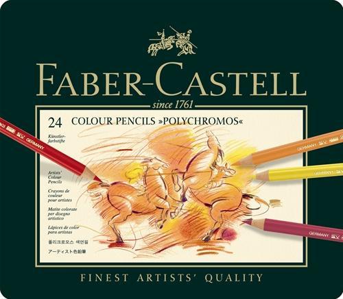 【FABER-CASTELL】輝柏110024藝術家級油性色鉛筆 - 24色