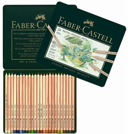 【FABER-CASTELL】輝柏 112124 PITT 粉彩色鉛筆-24色