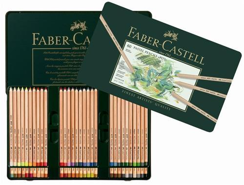 【FABER-CASTELL】輝柏 112160 PITT 粉彩色鉛筆-60色