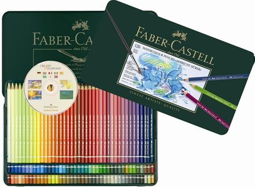 限量供應 【FABER-CASTELL】輝柏117511藝術家級水彩色鉛筆 - 120色