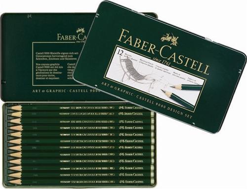 【FABER-CASTELL】輝柏 119064  5B~5H高級素描鉛筆9000