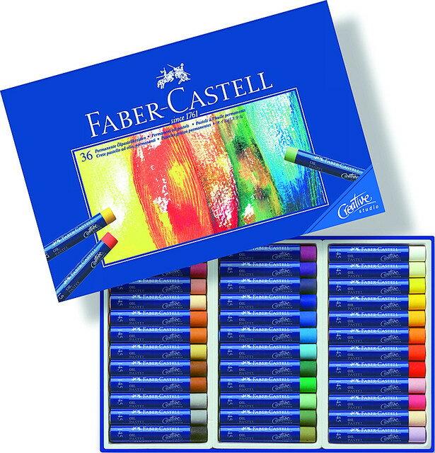 【FABER-CASTELL】輝柏  127036 創意工坊油性粉彩條 36色