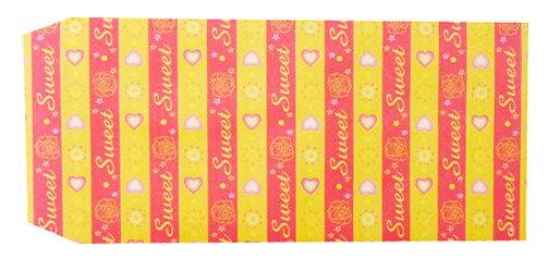 成昌 5號20k黃底愛心圖案貼心禮物袋 (款式隨機出貨)-36張 /束