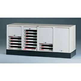 【潔保】捲門式公文櫃系列-CP-6407+CP-04 四排一層+腳座