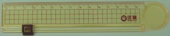 【雄獅】15cm簡易CR-001切割尺 / 支