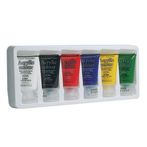 萬事捷 462~06 壓克力水彩顏料25ml ~6瓶入   盒