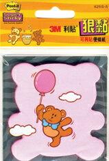 【3M】625S-5 利貼 狠黏 造型便利貼系列 熊 45張/本
