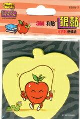 【3M】625S-7 利貼 狠黏 造型便利貼系列 蘋果 45張/本