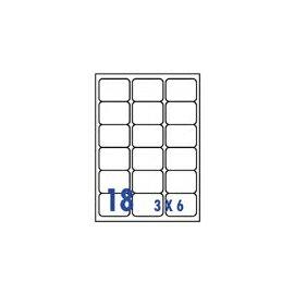 裕德 U4265 電腦列印標籤18格63.5X56.6mm-20張入 / 包