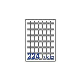 裕德 U8830 電腦列印標籤224格25.4X8.5mm~100張入   包