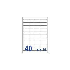 裕德 U4474電腦列印標籤40格48.5X25.4mm-20張入 / 包