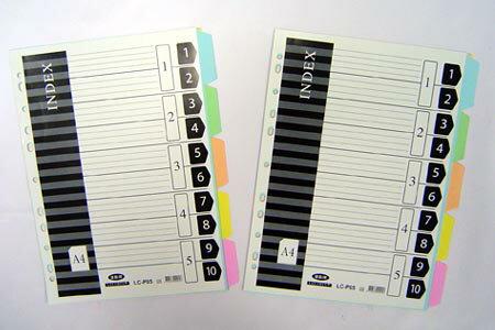 連勤 LC-P05 (紙質)11孔五段分段卡 / 套