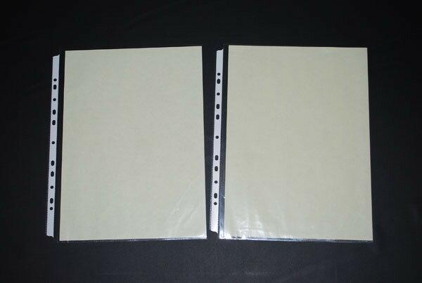 鼎盛609-B4-11孔PP真珠條內頁附紙-100張/包