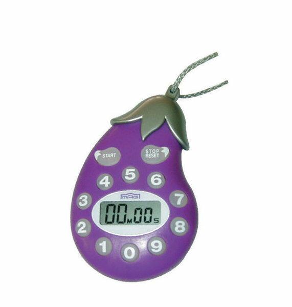 歐菲士 6212 茄子 倒數計時器 ~ 可前進、可倒數、前進計時100分鐘   個