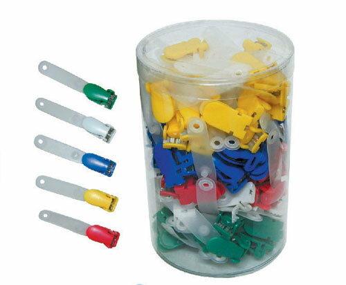 歐菲士 識別證套塑膠夾頭(顏色隨機出貨)-100個入 / 筒