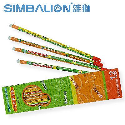 【雄獅】992H 九九乘法表皮頭鉛筆 (12入) / 盒