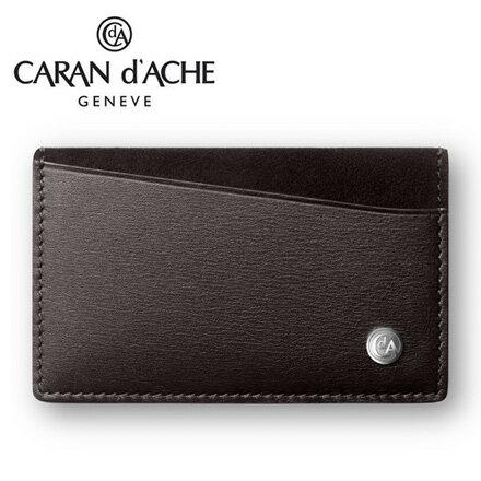 CARAN d #x27 ACHE 瑞士卡達 CdA小牛皮卡式名片夾. 黑檀