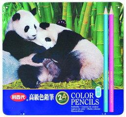 【利百代】貓熊抗菌色鉛筆(24支/盒)CC046 (促銷)