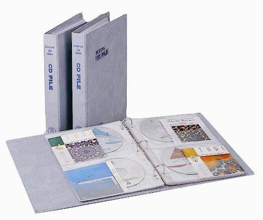 【雙鶖FLYING】CD-5040 金禾皮40片裝 活頁式CD保存夾(專利內頁)