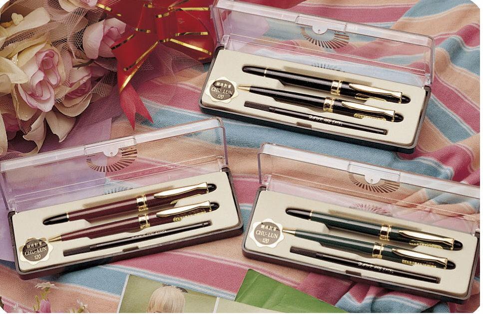 ~巨倫~A~0152  金蔥鋼珠比對筆^(綠^)