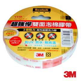 『3M』 118 (24mm x 2yd) 超強悍雙面薄型泡棉膠帶 /捲