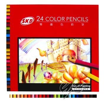 SKB NP-130 樂趣24色色鉛筆 (紙盒) / 盒