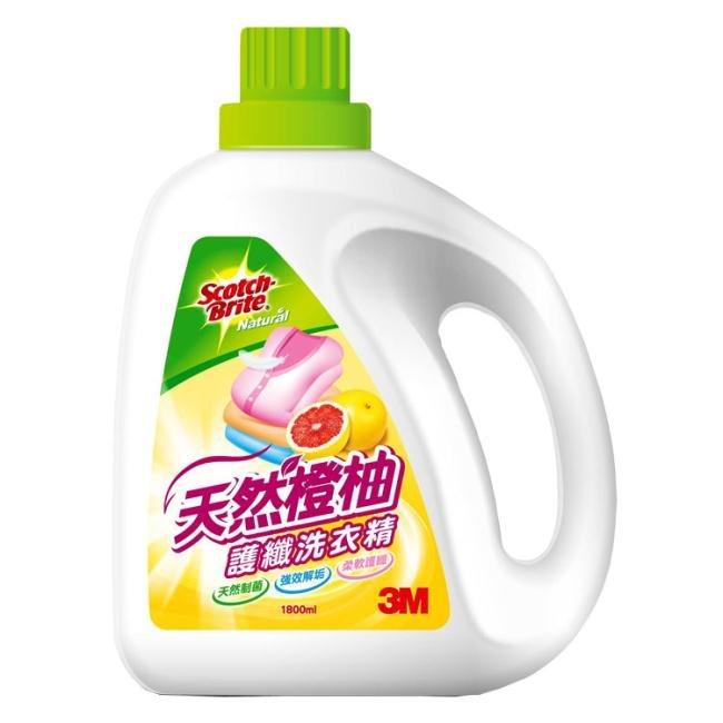 3M L101 天然橙柚護纖洗衣精-1800ML / 瓶