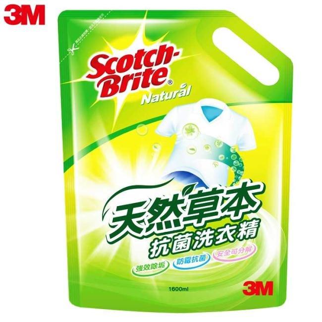 3M  LR102  天然草本抗菌洗衣精補充包 ~1600ML  包