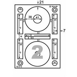 【華麗牌】 阿波羅WL-9200影印用自黏標籤紙(光碟片專用/1包A4~20張入)