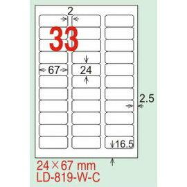 ~龍德~ LD~819^(圓角~五色^) 雷射、噴墨、影印三用電腦標籤 24x67mm 2