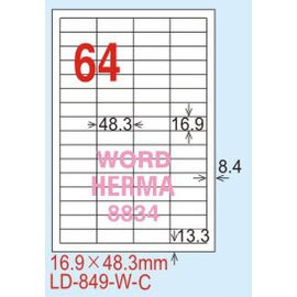 ~龍德~LD~849^(直角~可再貼^) 雷射、噴墨、影印三用電腦標籤 16.9x48.3